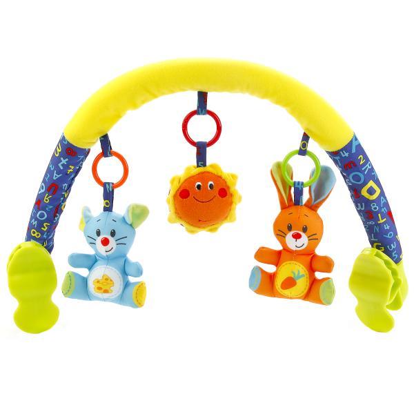Дуга на коляску с 3 игрушками в комплекте