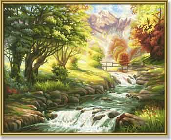 Горная река, 40 на 50 смРаскраски по номерам Schipper<br><br>