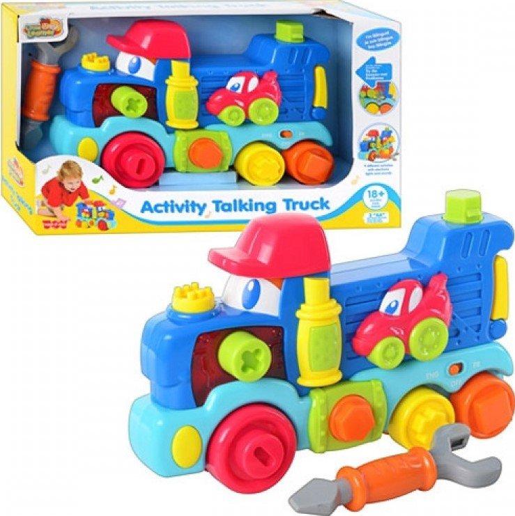 Передвижной говорящий грузовик, свет и звукМашинки для малышей<br>Передвижной говорящий грузовик, свет и звук<br>