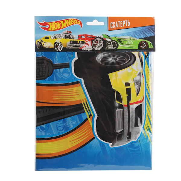 Скатерть с дизайном Hot Wheels, 140 х 180 см., в пакете