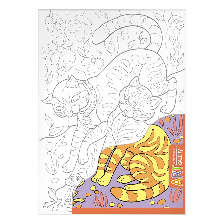 Раскраска на бумажном холсте из серии Арт Галерея средняя – Играющие котятаРоспись по холсту<br>Раскраска на бумажном холсте из серии Арт Галерея средняя – Играющие котята<br>