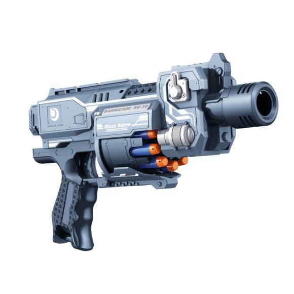 Бластер Blaze Storm - Barricade Rv-10 стреляющий 20 мягкими снарядамиАвтоматы, пистолеты, бластеры<br>Бластер Blaze Storm - Barricade Rv-10 стреляющий 20 мягкими снарядами<br>