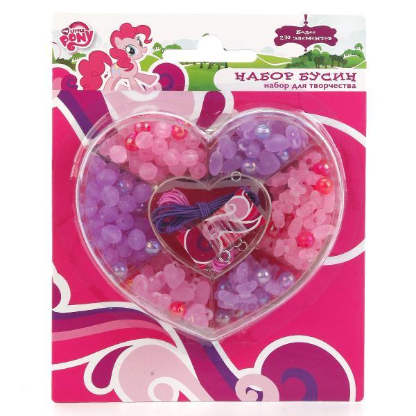 Набор бисера из серии My Little Pony в сердце, более 230 деталейМоя маленькая пони (My Little Pony)<br>Набор бисера из серии My Little Pony в сердце, более 230 деталей<br>