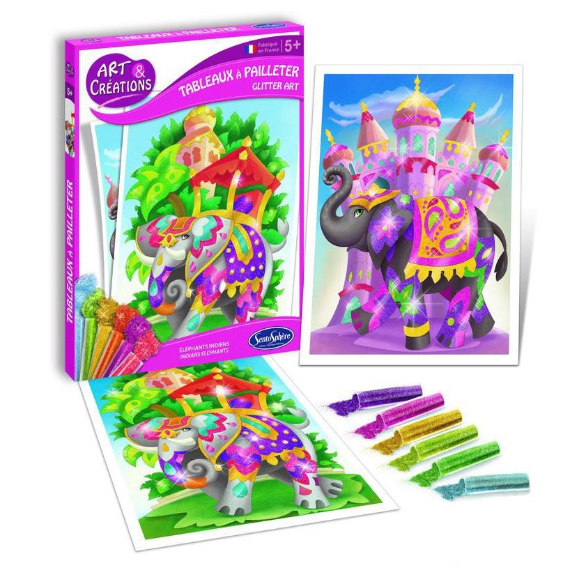 Купить Набор для детского творчества – Слоны, с блестками, SentoSpherE