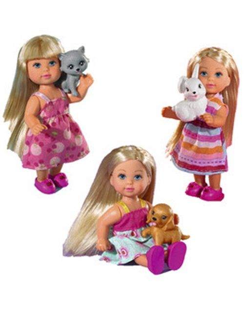 Кукла Еви со зверюшками