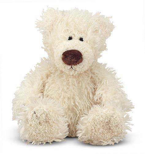 Мягкая игрушка Белый Мишка, 13 см.Медведи<br>Мягкая игрушка Белый Мишка, 13 см.<br>