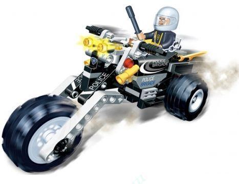 Конструктор Полицейский на мотоцикле - Конструкторы BANBAO, артикул: 98313