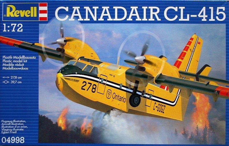 Сборная модель - Противопожарный самолет-амфибия Canadair Bombadier CL-415 (Revell, 04998RМодели самолетов для склеивания<br>Сборная модель - Противопожарный самолет-амфибия Canadair Bombadier CL-415 (Revell, 04998R<br>