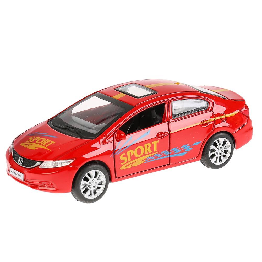 Купить Машина металлическая Honda Civic Спорт, 12 см, открываются двери, инерционная, Технопарк