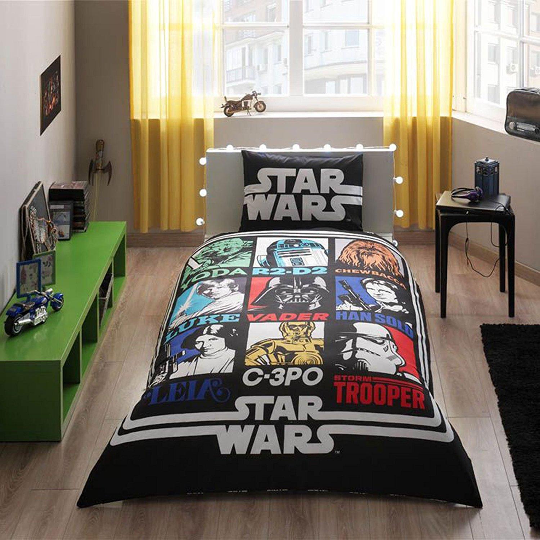 Комплект постельного белья Ranforce - Star Wars, 1,5 спальныйДетское постельное белье<br>Комплект постельного белья Ranforce - Star Wars, 1,5 спальный<br>