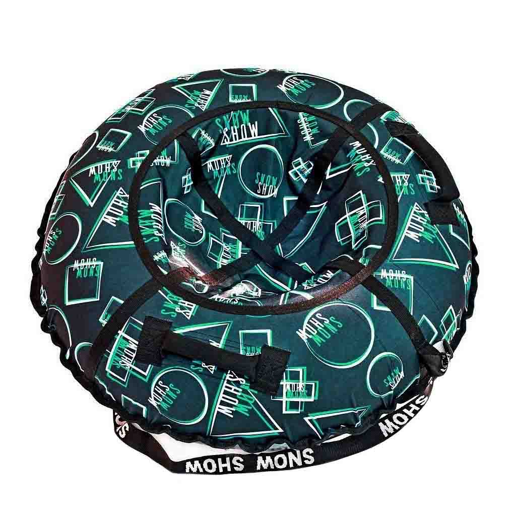Санки надувные – Тюбинг RT Геометрия, зеленый узор, 105 см фото