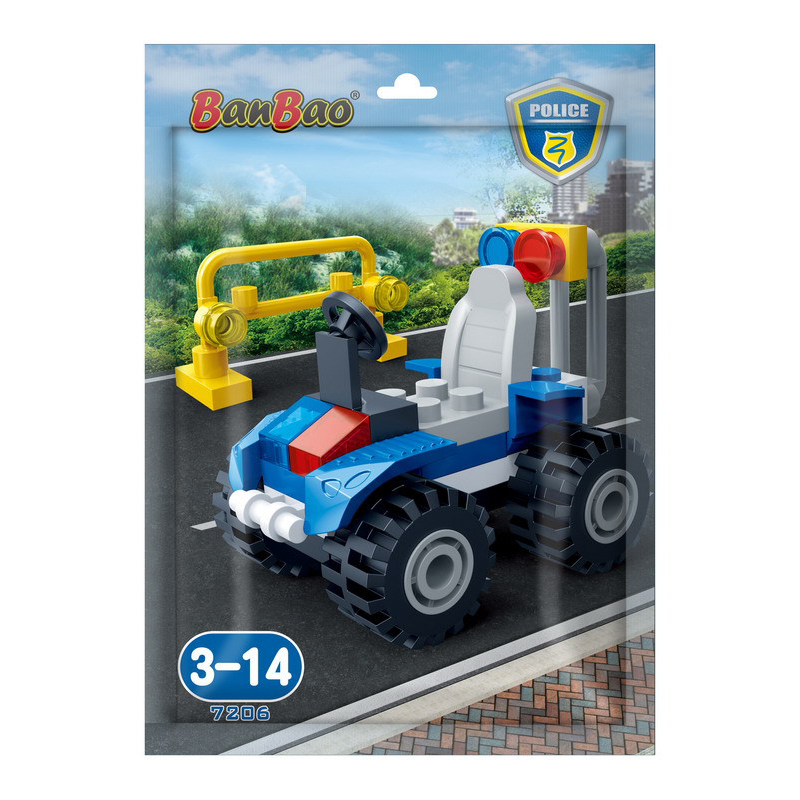 Купить Конструктор - Полицейский джип в пакетике, 34 детали, BanBao