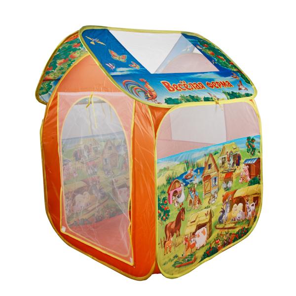 Детская игровая палатка Веселая фермаДомики-палатки<br>Детская игровая палатка Веселая ферма<br>