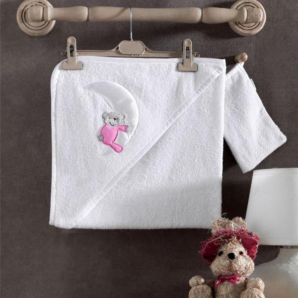 Полотенце уголок и варежка Teddy Boo, 100% хлопок, размер 75 х 75 смполотенца и халаты<br>Полотенце уголок и варежка Teddy Boo, 100% хлопок, размер 75 х 75 см<br>
