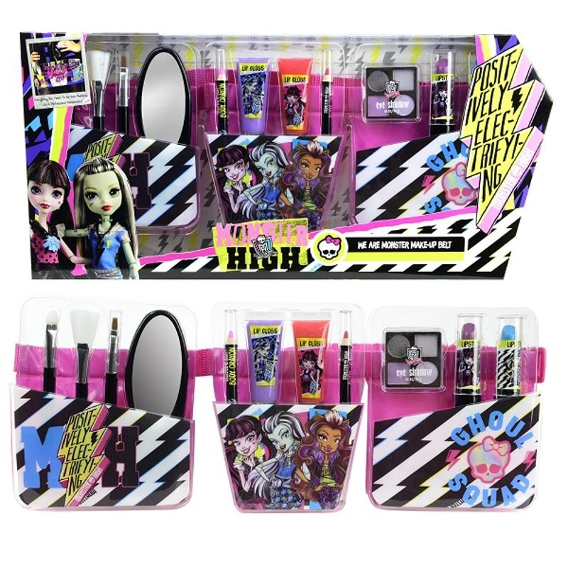 Игровой набор детской декоративной косметики с поясом визажиста из серии Monster HighДетская косметика Markwins<br>Игровой набор детской декоративной косметики с поясом визажиста из серии Monster High<br>