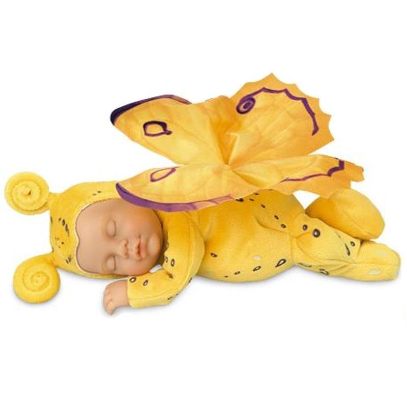 Кукла из серии «Детки-бабочки», желтыеКуклы детки ANNE GEDDES<br>Кукла из серии «Детки-бабочки», желтые<br>