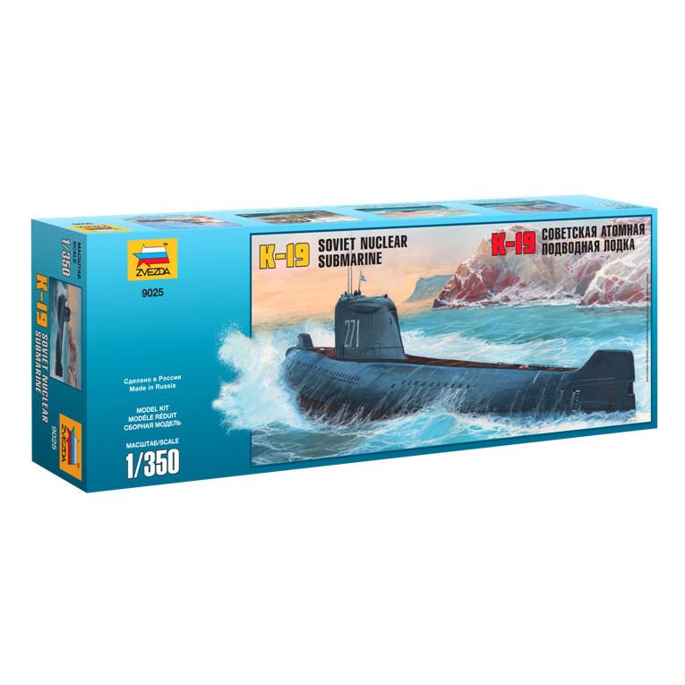 Модель сборная - Подводная лодка К-19Модели кораблей для склеивания<br>Модель сборная - Подводная лодка К-19<br>