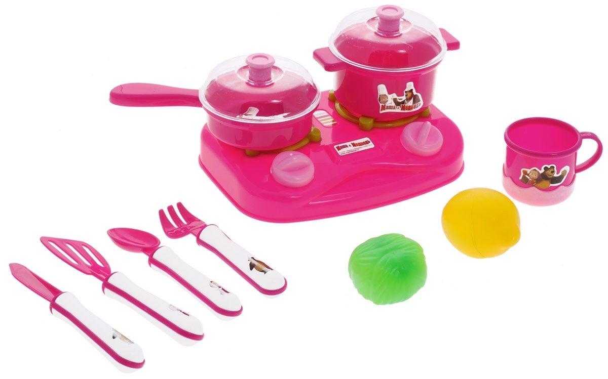 Набор посуды «Маша и Медведь», 10 предметовАксессуары и техника для детской кухни<br>Набор посуды «Маша и Медведь», 10 предметов<br>