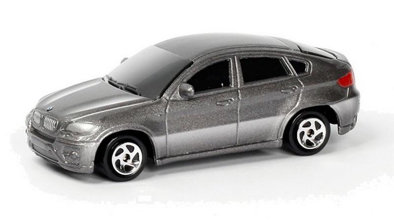 Купить Металлическая машина - BMW X6, 1:64, серебристый, RMZ City