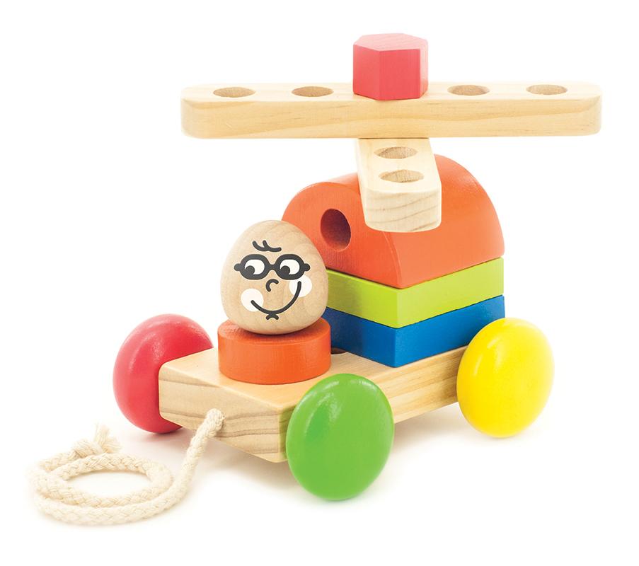 Мир деревянных игрушек Конструктор Вертолет-каталка
