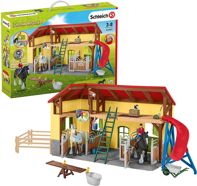 Игровой набор – Конюшня, с фигурками и домиком