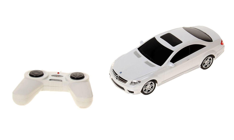 картинка Радиоуправляемая машина - Mercedes CL63 AMG, 1:24, цвет белый, 40MHZ от магазина Bebikam.ru