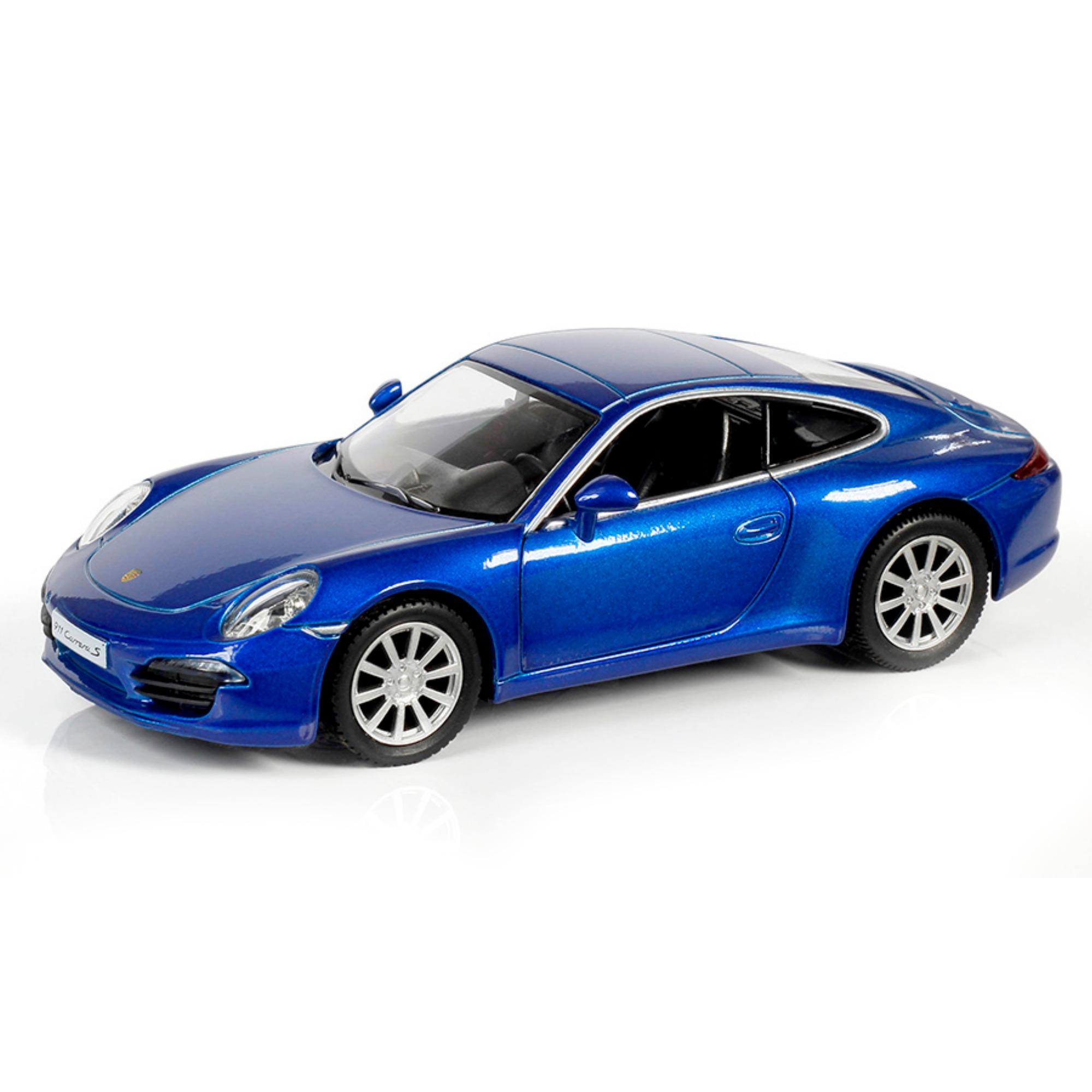 Металлическая инерционная машина RMZ City - Porsche 911 Carrera S, 1:32, синий металликPorsche<br>Металлическая инерционная машина RMZ City - Porsche 911 Carrera S, 1:32, синий металлик<br>
