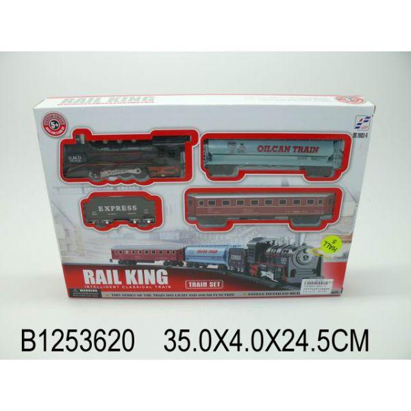 Железная дорога на батарейках, свет и звук, с аксессуарамиДетская железная дорога<br>Железная дорога на батарейках, свет и звук, с аксессуарами<br>