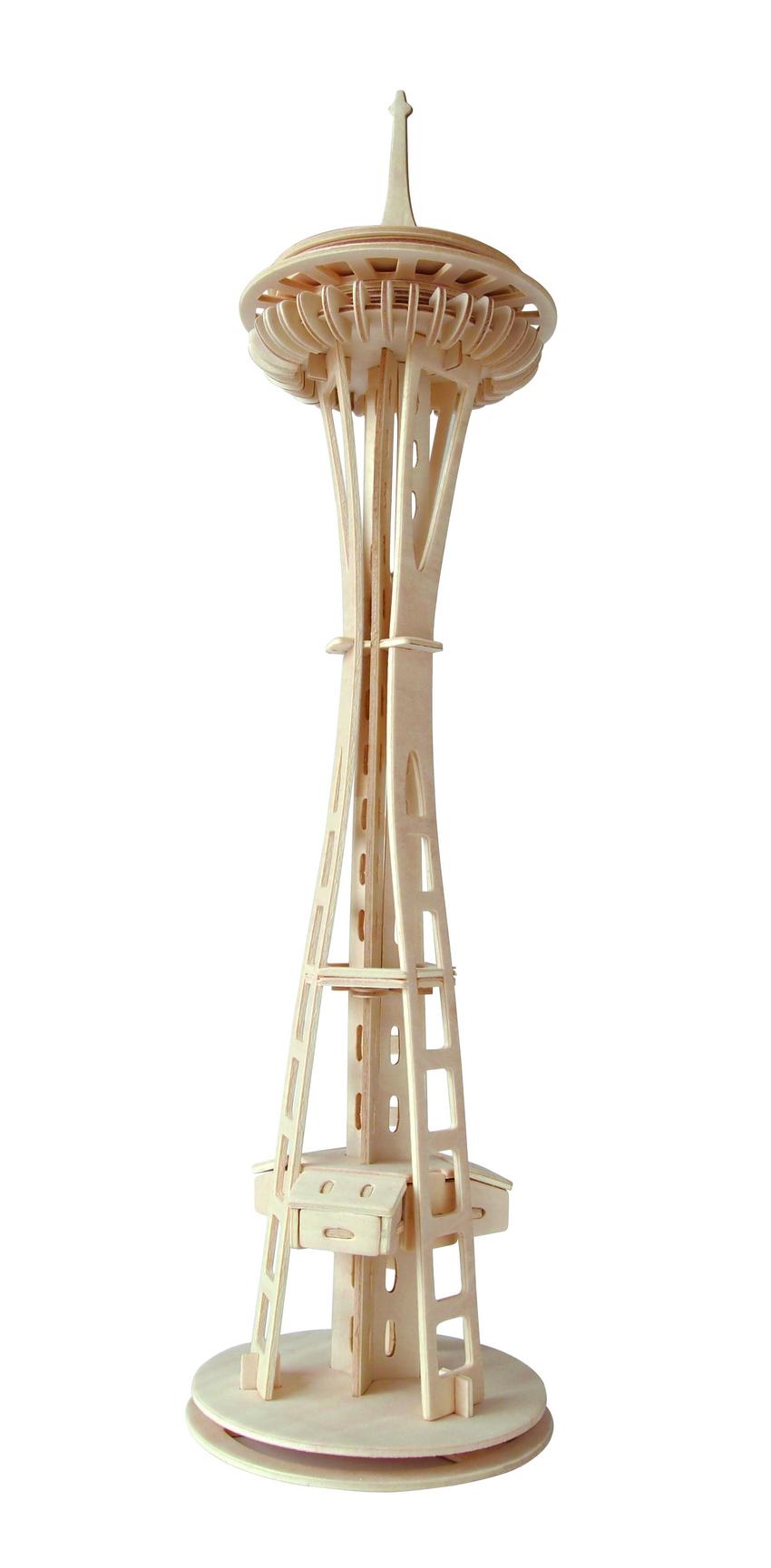 Модель деревянная сборная - Башня Спейс-НидлПазлы объёмные 3D<br>Модель деревянная сборная - Башня Спейс-Нидл<br>