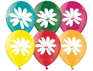 Набор шариков с рисунком – РомашкаВоздушные шары<br>Набор надувных, воздушных, цветных шариков с рисунком Ромашки.<br>Шарики очень прочные, легко надуваются и быстро не лопаются. Украсят самый веселый праздник.<br>