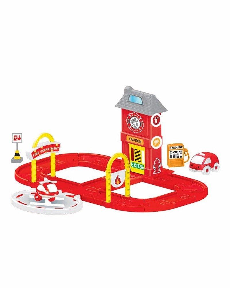 Купить Игровой набор - Пожарная станция с круговой дорогой, Dolu