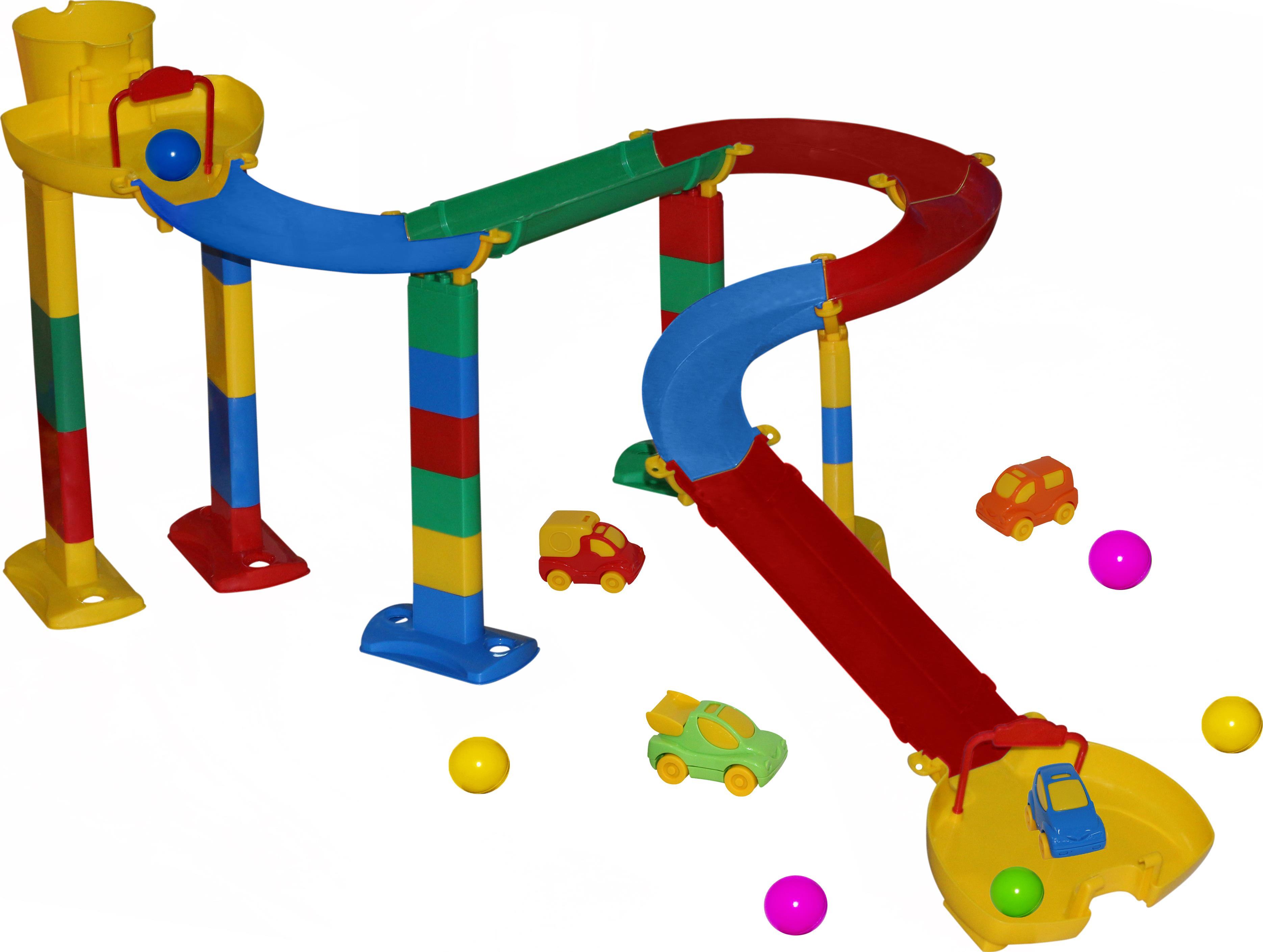 Горка для шариков, набор №1 в пакетеДетские развивающие игрушки Полесье<br>Горка для шариков, набор №1 в пакете<br>