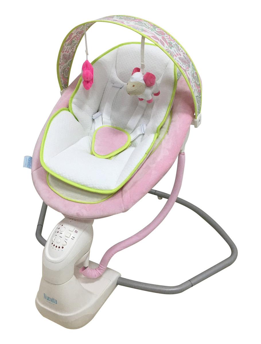 Электрокачели Nuovita Attento Rosa sonno / Розовый сонЭлектронные качели для детей<br>Электрокачели Nuovita Attento Rosa sonno / Розовый сон<br>