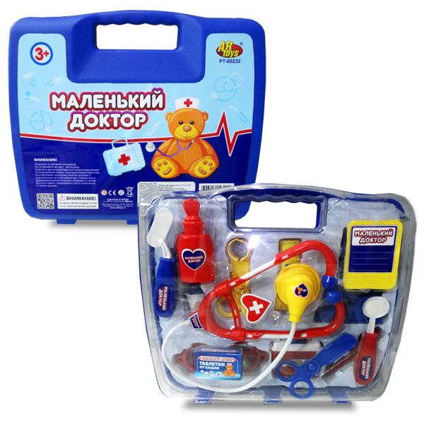 Игровой набор серии Маленький доктор на 14 предметов, в чемоданчике - Наборы доктора детские, артикул: 96898
