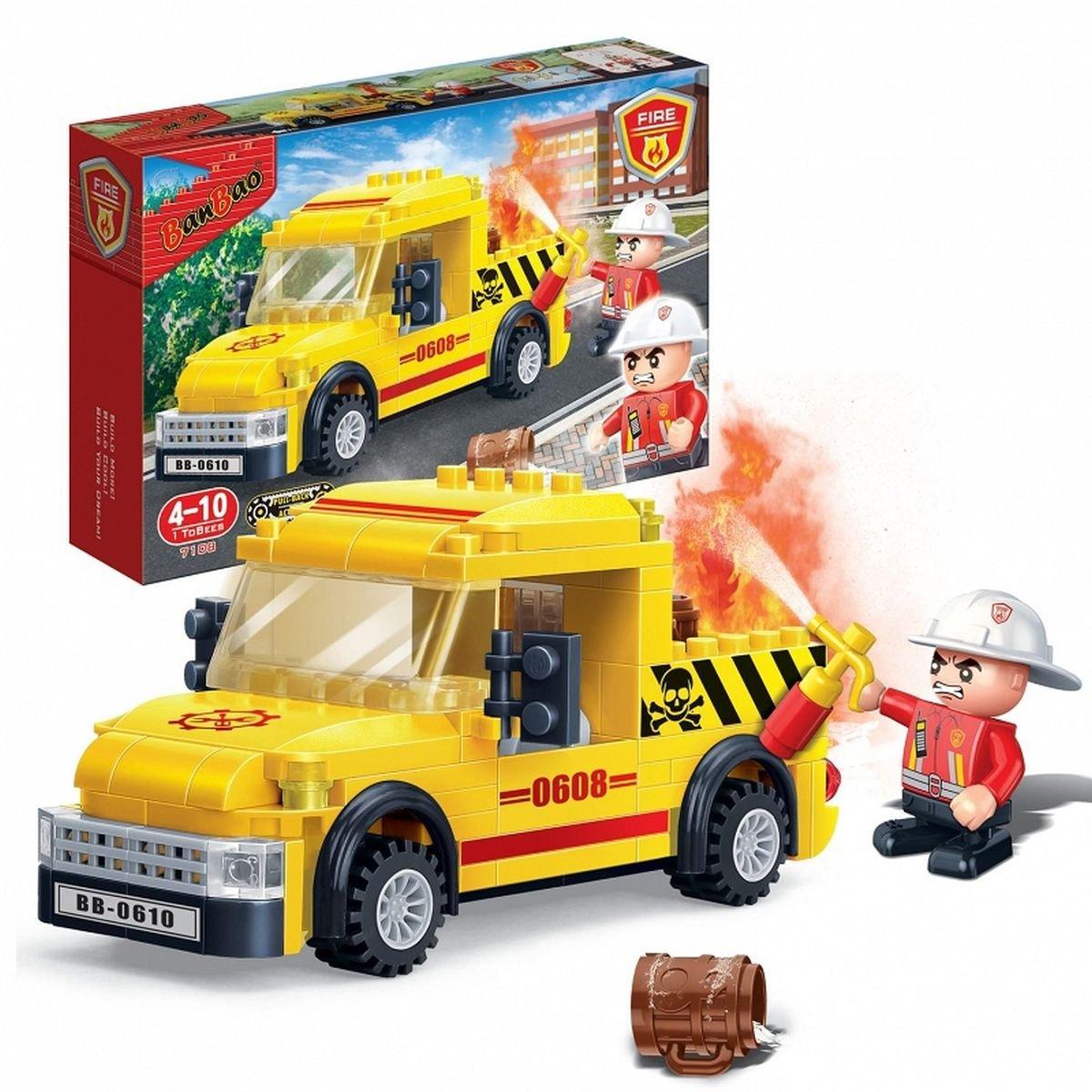 Конструктор  - Пожарная машина, 105 деталейКонструкторы BANBAO<br>Конструктор  - Пожарная машина, 105 деталей<br>