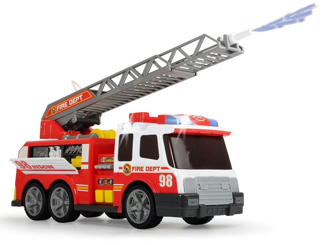 Dickie. Пожарная машина с функцией разбрызгивания воды, свет и звук фото