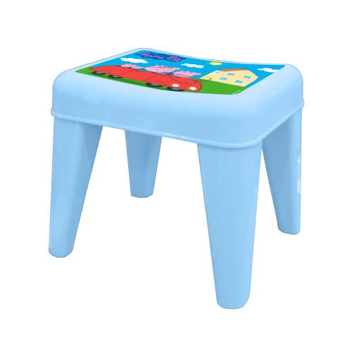 Детский табурет - Я расту - Свинка Пеппа, голубойИгровые столы и стулья<br>Детский табурет - Я расту - Свинка Пеппа, голубой<br>