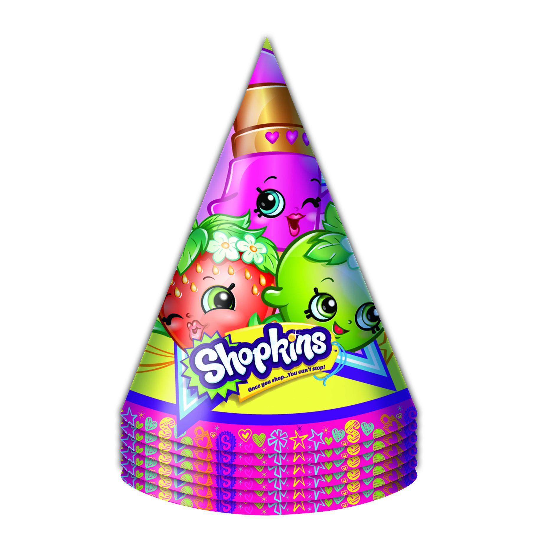 Набор бумажных колпачков из серии Шопкинс, 6 штук