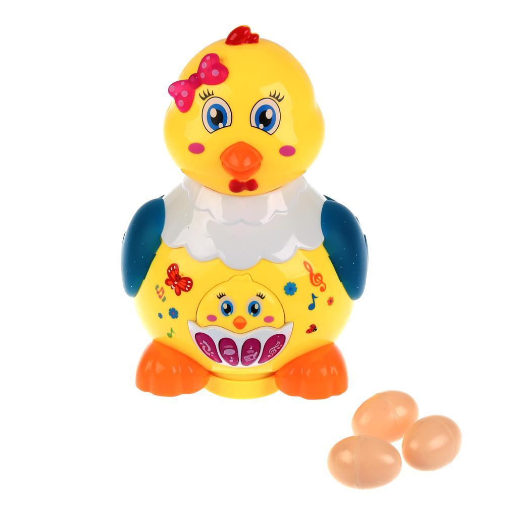Развивающая игрушка - Курица-несушка, 14 веселых потешек, 10 песен, 2 сказки, подвижные элементы
