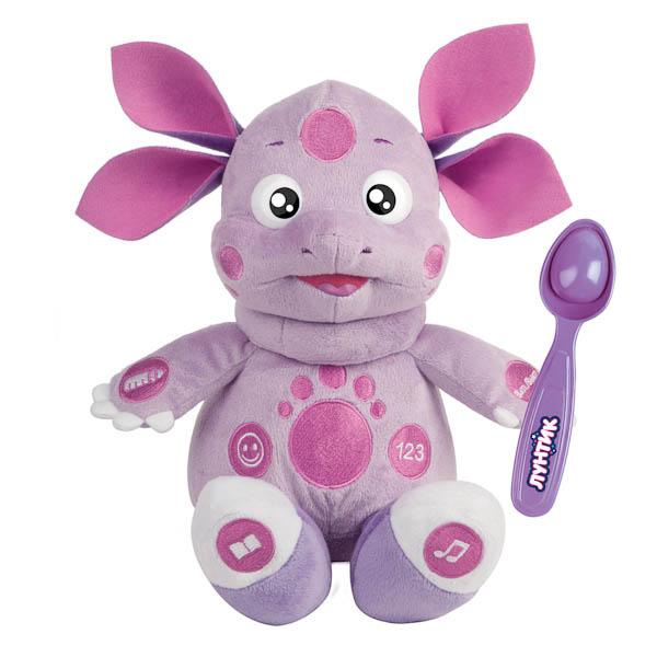 Мягкая игрушка - Лунтик кушает с ложечки, 26 см, 10 функцийГоворящие игрушки<br>Мягкая игрушка - Лунтик кушает с ложечки, 26 см, 10 функций<br>