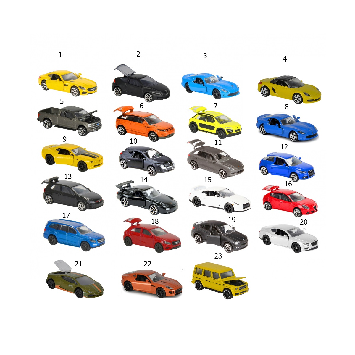 Фото #1: Машинки серии Premium с открывающимися элементами, 7,5 см.