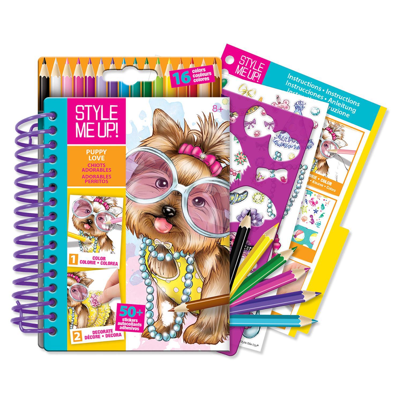 Блокнот дизайнера Style Me Up - Очаровательная собачкаНаборы для рисования<br>Блокнот дизайнера Style Me Up - Очаровательная собачка<br>