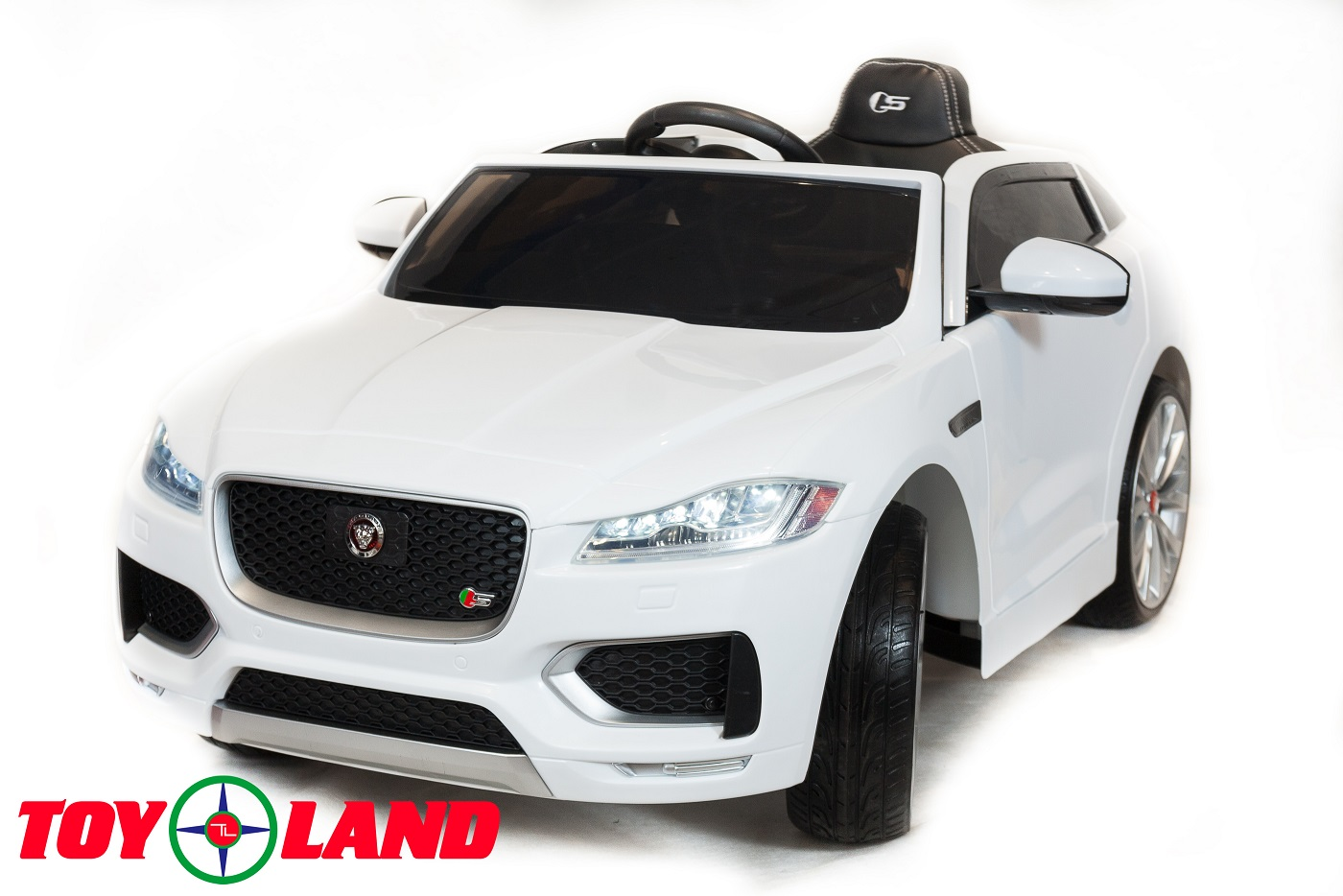 Электромобиль – Jaguar F-PACE. Белый