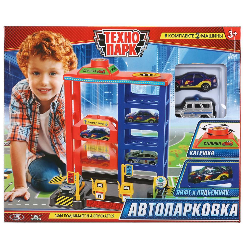 Парковка Многоуровневая Стоянка с 2-мя машинками 7, 5 см Уаз и Лада, Технопарк  - купить со скидкой