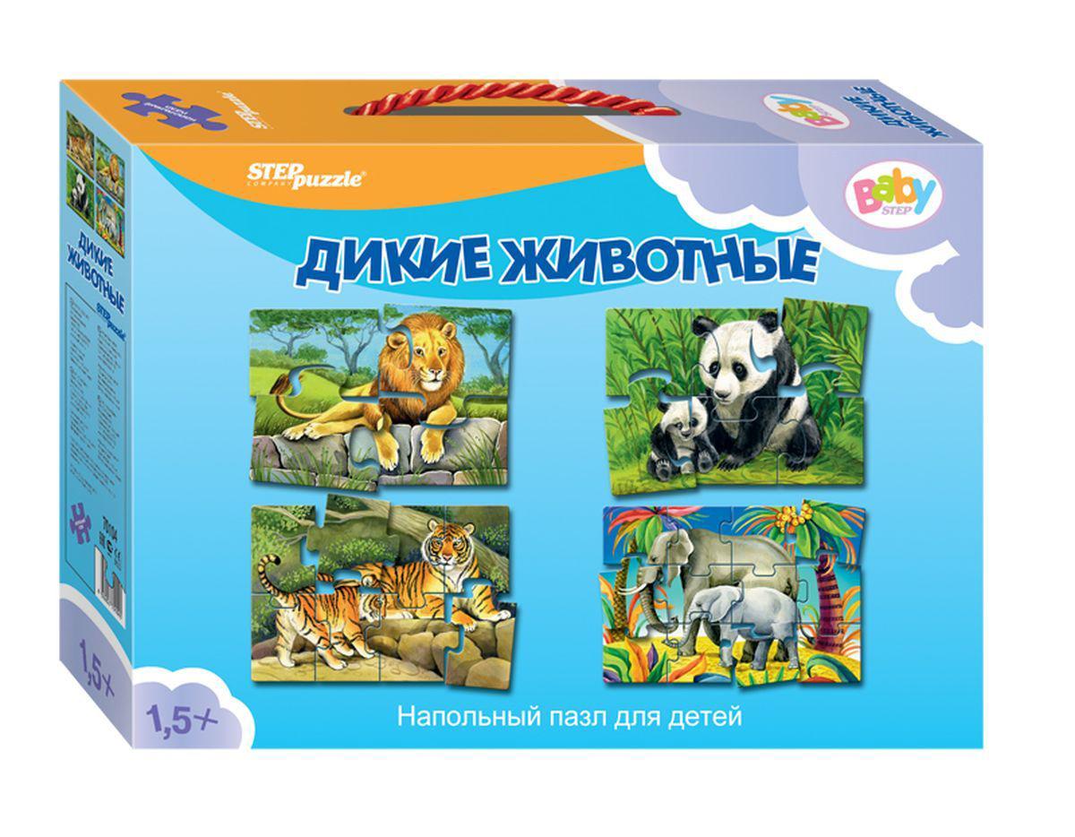Напольный пазл Дикие животныеПазлы для малышей<br>Напольный пазл Дикие животные<br>