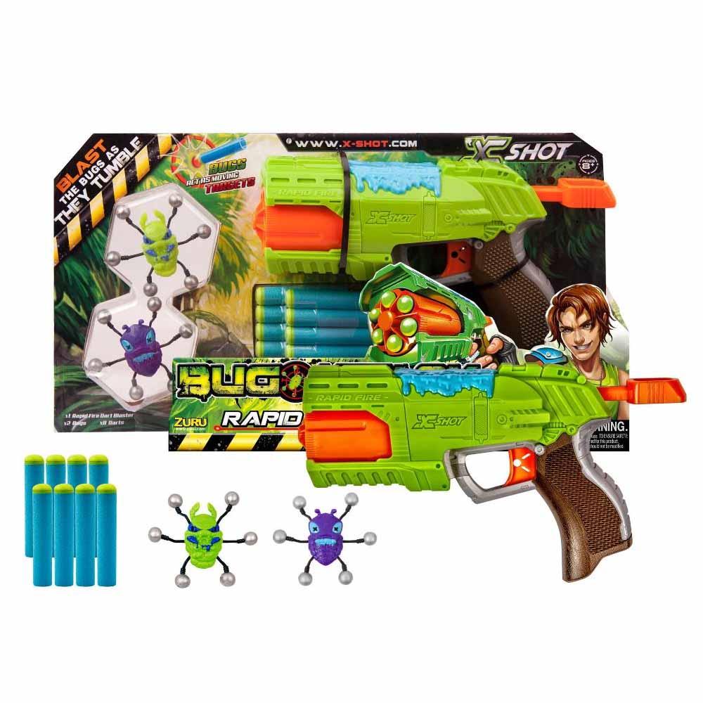 Бластер с мишенями X-Shot - Атака пауковАвтоматы, пистолеты, бластеры<br>Бластер с мишенями X-Shot - Атака пауков<br>