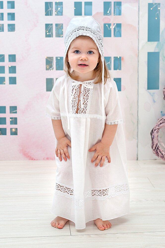 Крестильный набор для девочки – Елена, 3 предмета, 3-6 месяцев