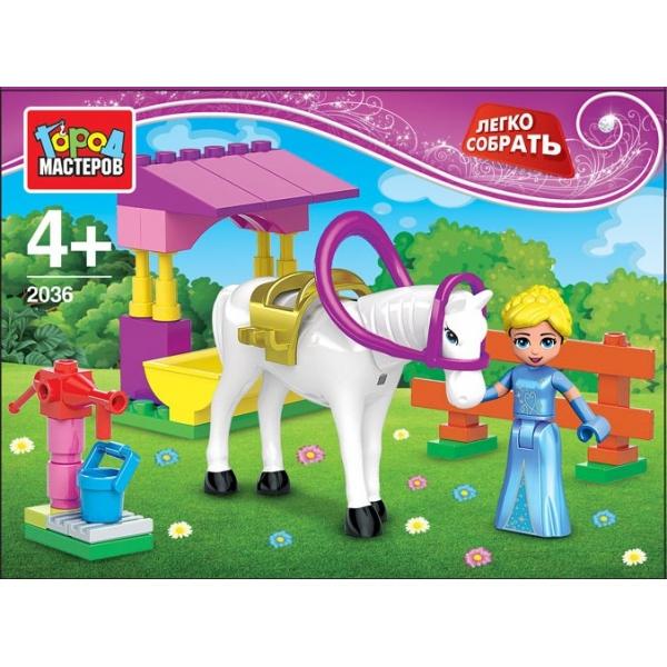 Конструктор - Принцесса с лошадкойГород мастеров<br>Конструктор - Принцесса с лошадкой<br>