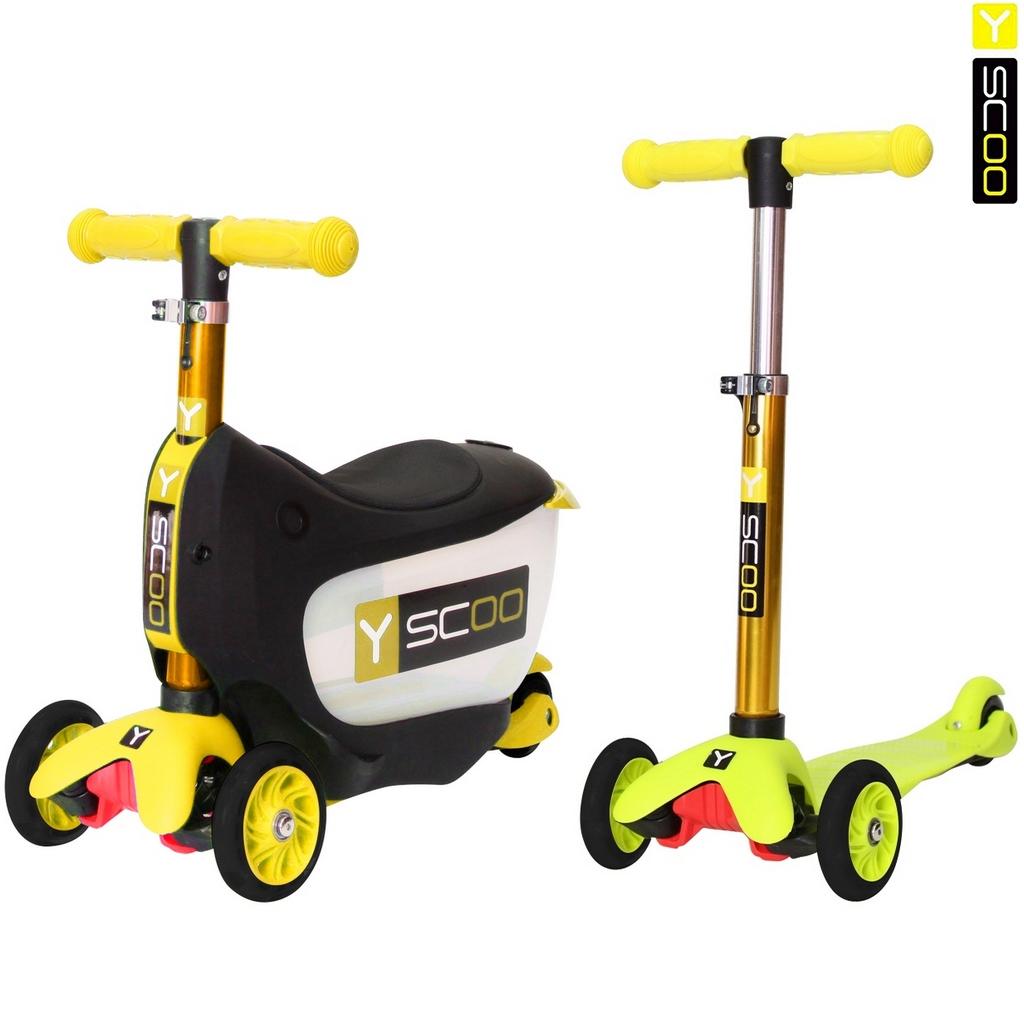 Каталка-самокат 3 в 1 Y-Scoo Mini Jump&amp;Go, желтыйТрехколесные самокаты<br>Каталка-самокат 3 в 1 Y-Scoo Mini Jump&amp;Go, желтый<br>