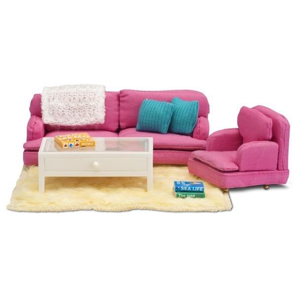 Кукольная мебель Смоланд - Гостиная в розовых тонахКукольные домики<br>Кукольная мебель Смоланд - Гостиная в розовых тонах<br>
